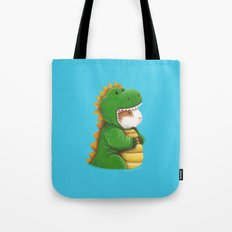 Guinea Pig in a Dinosaur Costume - Peegosaurus Rex Tote Bag