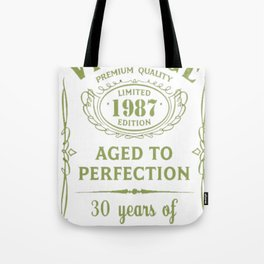 Green-Vintage-Limited-1987-Edition---30th-Birthday-Gift Tote Bag