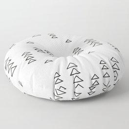 Minimalist Triangle Line Drawing Floor Pillow