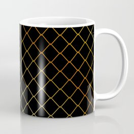 Golden Fishing net on black Coffee Mug