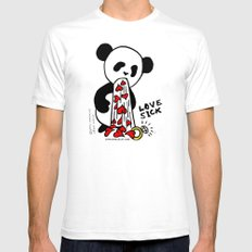 LOVESICK PANDA - cream Mens Fitted Tee White SMALL