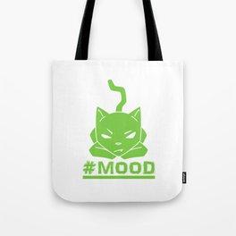 #MOOD Cat Green Tote Bag