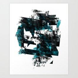 Turquoise Fuss Art Print