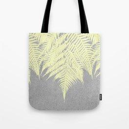 Concrete Fern Yellow Tote Bag