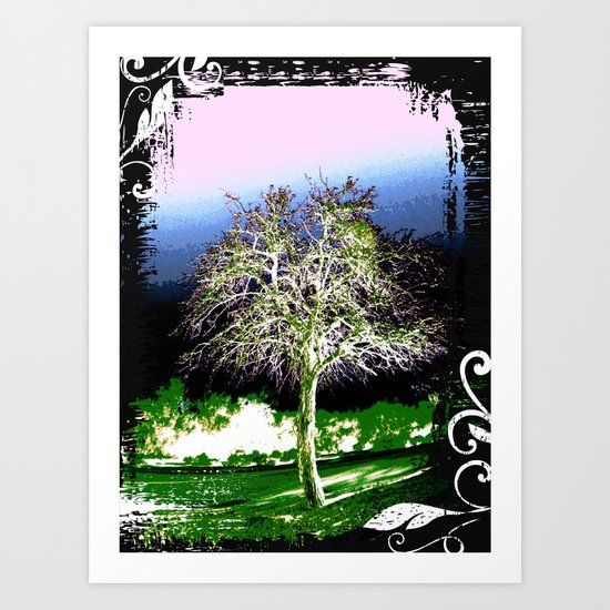 Crazy Tree Art Print