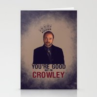 crowley Stationery Cards featuring I'm Crowley - Supernatural by KanaHyde
