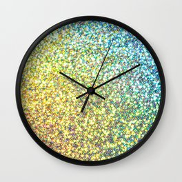 Rainbow Ombre Glitter Wall Clock