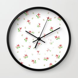 """Colorful and flowery tee design with text """"Deny The Lies"""" Stay brave and concealed with creativeness Wall Clock"""