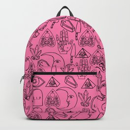 Pink Halloween Pattern Backpack