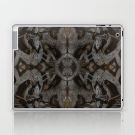 Curves & lotuses, black, brown and taupe Laptop & iPad Skin