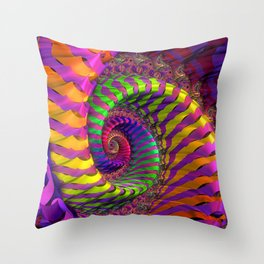 Coloured Spiral wheel Throw Pillow
