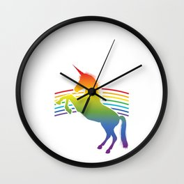 Unicorn Running Team Track Captain Let's Be Magical Instead Wall Clock