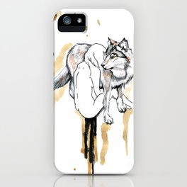 The Girl And The Wolf iPhone Case