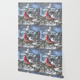 Let It Snow (Northern Cardinal) Wallpaper