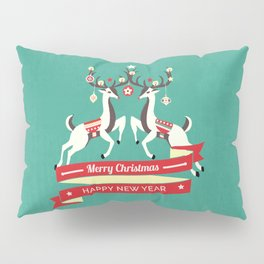 Christmas Deers with baubles Pillow Sham