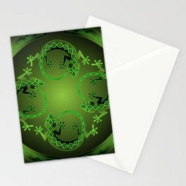 Vintage Green Gecko Stationery Cards