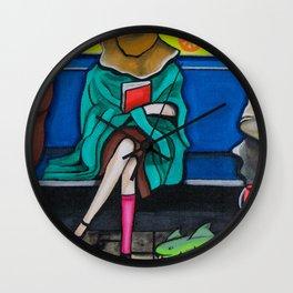 SUBWAY WOMAN Wall Clock