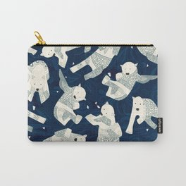 arctic polar bears midnight Carry-All Pouch