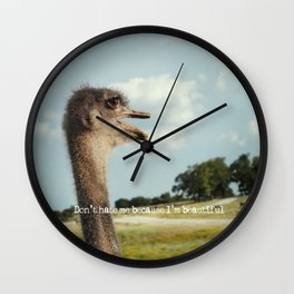 Don't Hate Me Wall Clock