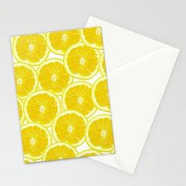 Summer Citrus Lemon Slices Stationery Cards
