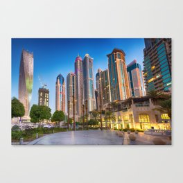 Lights, steel and glass Canvas Print