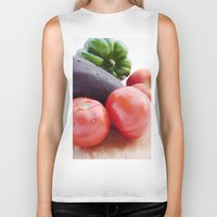 vegetables Biker Tanks featuring Vegetables by Carlo Toffolo