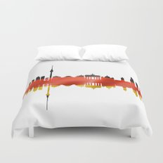 Berlin city silhouette. Duvet Cover