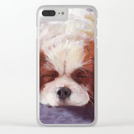 Sleeping Dog Clear iPhone Case
