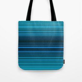Abstract blue and green horizontal lines. Tote Bag
