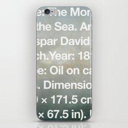 The Monk by the Sea, Caspar David Friedrich, 1810, Alte Nationalgalerie, Berlin iPhone Skin
