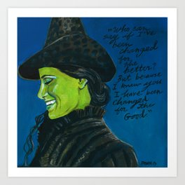 Elphaba-Wicked Art Print