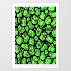 Fifty shades of slime. Art Print