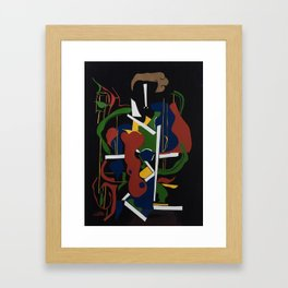 The Composer - Collage by Amnon Michaeli Framed Art Print