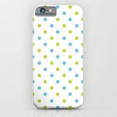 Fun Dots blue green Slim Case iPhone 6s