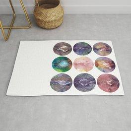 Nine Vaginas, Verronica Kirei's Solar System Design Art Print Rug