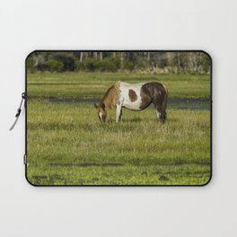 Pinto Mare with the Copper Colored Mane No. 1 - Chincoteague Ponies Assateague Horses Laptop Sleeve