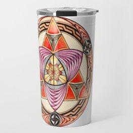 Pyramid Mandala Travel Mug
