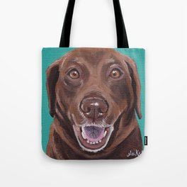 Chocolate Lab Art, Fun Pet Painting Tote Bag