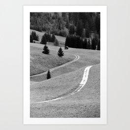 Winding road #2 Art Print