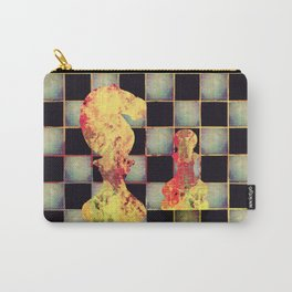 Grunge  Chessboard and Chess Pieces Carry-All Pouch