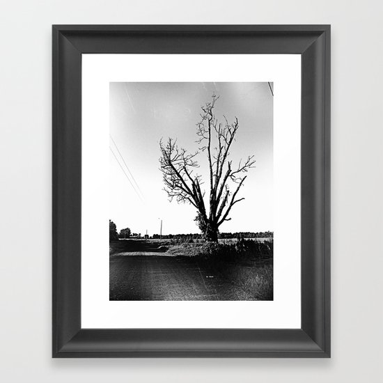 not a pretty tree Framed Art Print