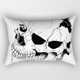 Skull (Fragmented and Conjoined) Rectangular Pillow