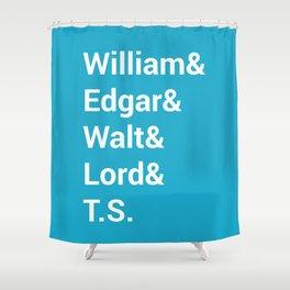 Poet Names Shower Curtain