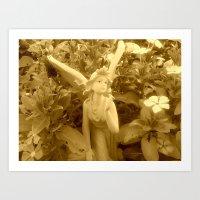 Garden - Angel Art Print