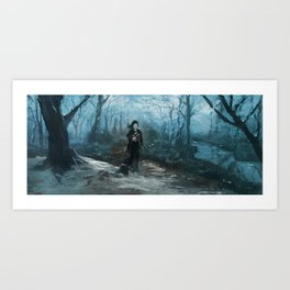 Along the Edge: Practicing the Miracles Art Print