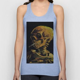 Van Gogh, Skull of a Skeleton with Burning Cigarette  – Van Gogh,Vincent Van Gogh,impressionist,post Unisex Tank Top