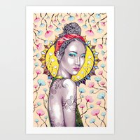 you are my sunshine Art Prints featuring Sunshine by Peter Fulop