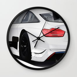 WHITE DT... M/// Wall Clock