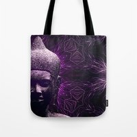 meditation Tote Bags featuring Meditation by JG-DESIGN