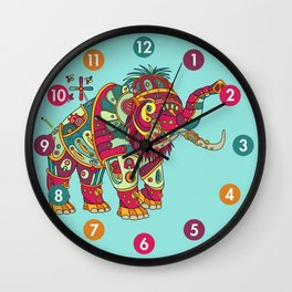 Mammoth, cool wall art for kids and adults alike Wall Clock